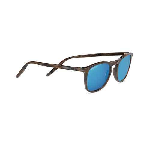 Delio Shiny Wood Grain Sunglasses w/ Polarized 555nm Lens