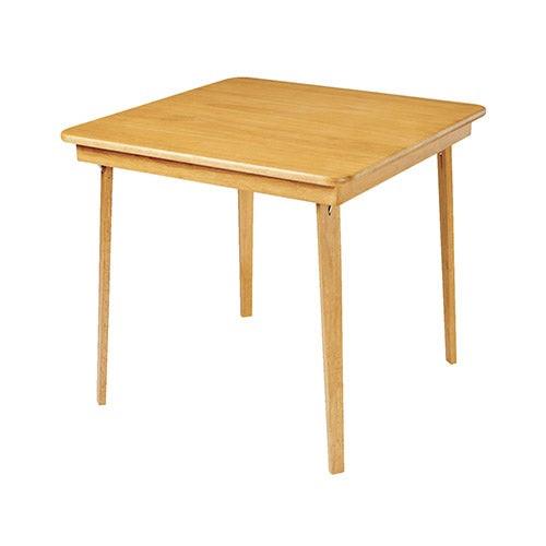 Straight Edge Folding Card Table Oak
