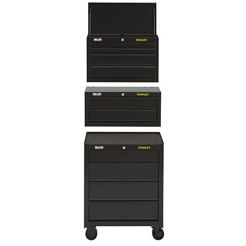 """100 Series 26.5"""" 4-Drawer Rolling Cabinet w/ Top & Middle Chest"""