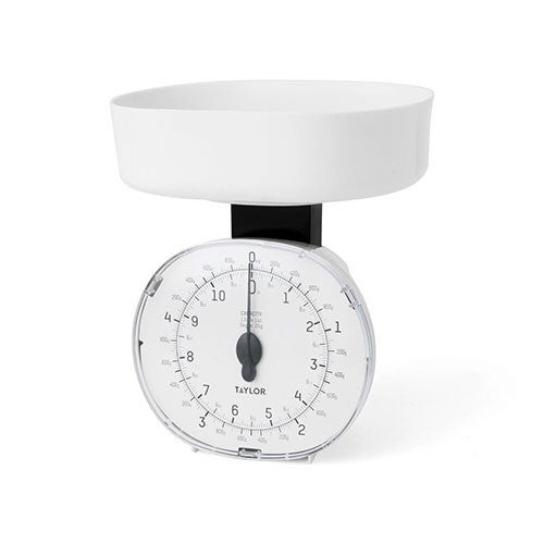 11lb Mechanical Food Scale White