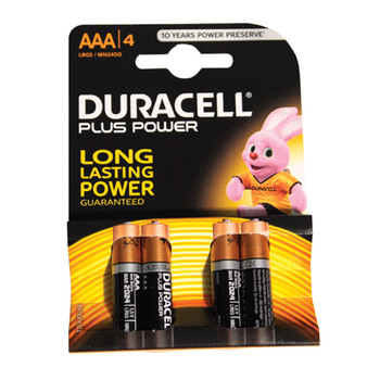 Duracell Plus Power 4x AAA Batteries [ P012PBE ]