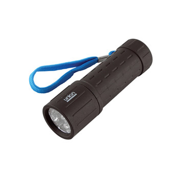 Union LED Rubberised Barrel Torch (Display Pack of 12) [ UN002 ]