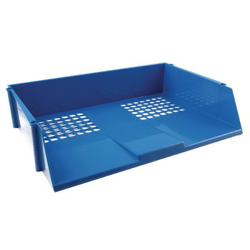 Q-Connect Wide Entry Letter Tray Blue KF21689