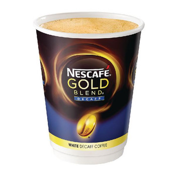 Nescafe and Go Gold Blend White Decaffeinated Pk 8 12033784