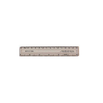 Q-Connect Clear 150mm/15cm Ruler Pk10