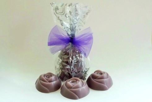 3 Large Rose Soap Gift Set