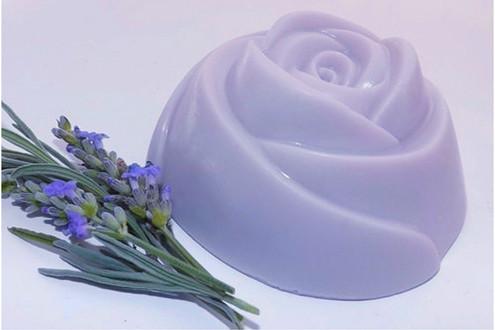 Luxurious Lavender Large Rose Soap