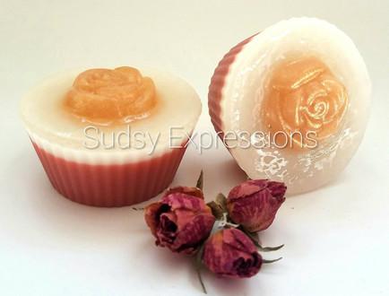 Gold Rose Soap Cupcake