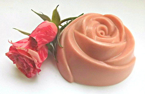 Large Pink Rose Soap