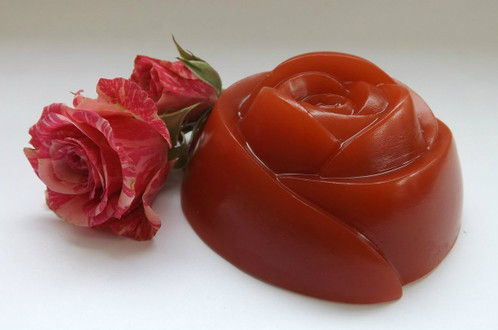 Large Red Rose soap