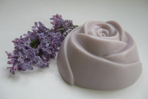 Lovely Lilac - Large Rose Soap