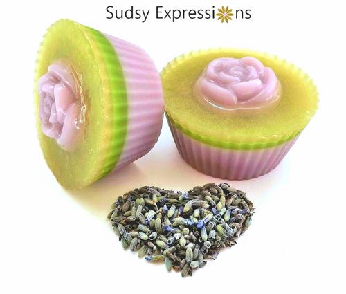 Luxurious Lavender Soap Cupcake