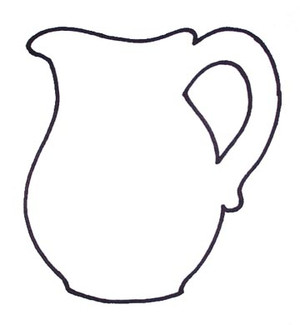 Drawing shows what the inset piece will look like (cuts out the handle).