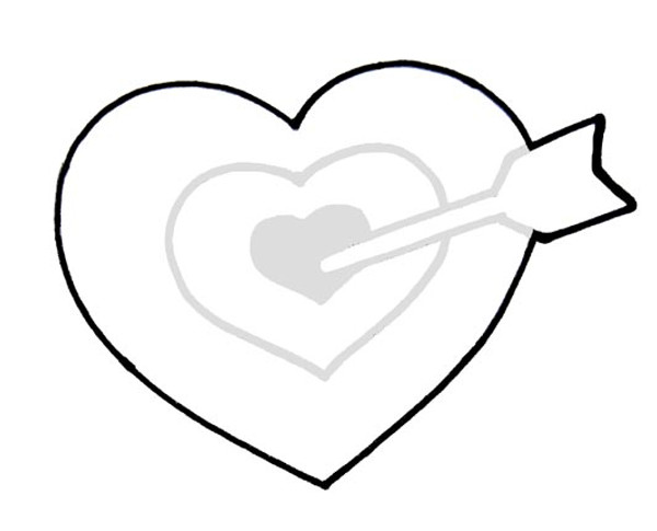 BULLS EYE HEART