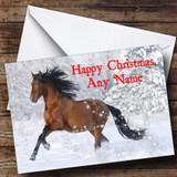 Lovely Horse Christmas Card Customised