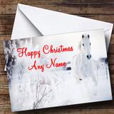 Grey Horse Christmas Card Customised
