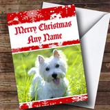 West Highland Terrier Dog Customised Christmas Card