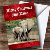 Elephant Customised Christmas Card