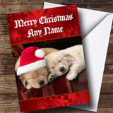 Gorgeous Puppy Dogs Customised Christmas Card