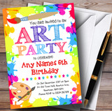 Crafts Art Painting Party Children's Birthday Party Invitations