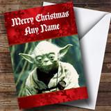 Yoda Star Wars Customised Christmas Card