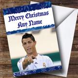 Blue Ronaldo Customised Christmas Card