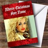 Red Rita Ora Customised Christmas Card