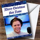 Blue Olly Murs Customised Christmas Card