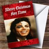 Michael Jackson Customised Christmas Card