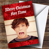 Louis Tomlinson One Direction Customised Christmas Card