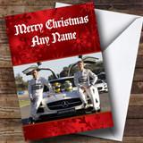 Lewis Hamilton And Nico Rosberg Formula Customised Christmas Card