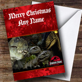 Jurassic Park Dinosaur Customised Christmas Card