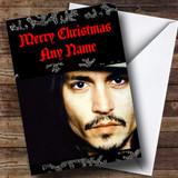 Johnny Depp Customised Christmas Card