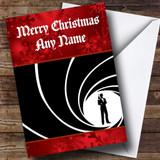 James Bond Personalised Customised Christmas Card