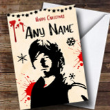 Daryl The Walking Dead Customised Christmas Card