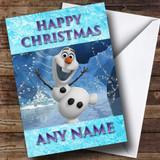 Olaf Frozen Christmas Card Customised
