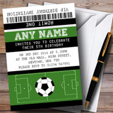 Football Soccer Match Ticket Children's Birthday Party Invitations