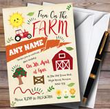 Fun On The Farm Children's Birthday Party Invitations