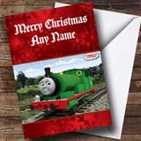 Thomas The Tank Engine Percy Customised Christmas Card