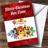 Rara The Noisy Lion Customised Christmas Card
