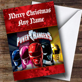 Power Rangers Customised Christmas Card