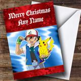 Pokemon Red Customised Christmas Card