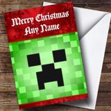 Minecraft Creeper Customised Christmas Card