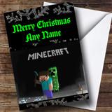 Minecraft Customised Christmas Card