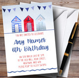 Beach Hut & Bunting Children's Birthday Party Invitations