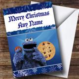 Cookie Monster Customised Christmas Card