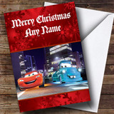 Cars Customised Christmas Card