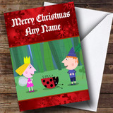 Ben And Holly Little Kingdom Customised Christmas Card