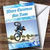 BMX Bike Customised Christmas Card