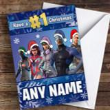 Fortnite Game Battlepass Skins Customised Children's Christmas Card